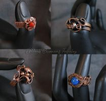 Few More Rings II by blackcurrantjewelry
