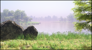 Misty Lake by jbjdesigns
