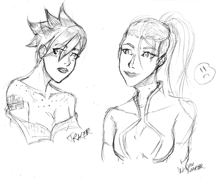July Sketch - Late Night WidowTracer by Motusification