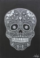 Day of the Dead Skull III by STiX2000