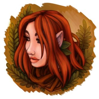Auburn Wood Elf by Saokymo