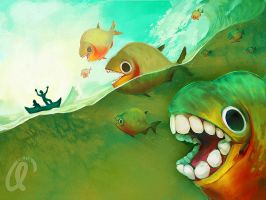 Killer Fishes! by angitsai