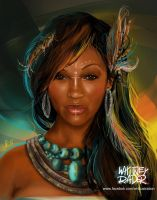 Meagan Good - Warrior by Ayeri