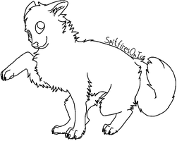 Free dog lineart MS Paint by SpitfiresOnIce