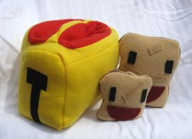 Plush Toaster with toast by ZodiacEclipse