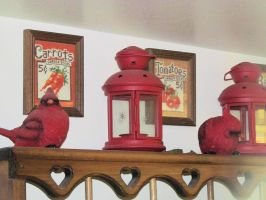 More cardinals and lanterns by BigMac1212