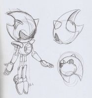 Metal Sonic sketches by ThePandamis