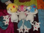Uxie, Mesprit, and Azelf Plush by Pikmingirl