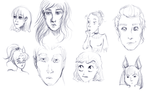 Faces and Styles Practice by nikkeae