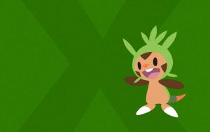 Chespin Wallpaper by iNightCrawler