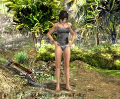 130430_TR_Lara_inspects_T-shirt by McGaston