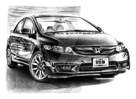 Honda Civic Si Sedan by Arek-OGF