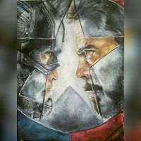 Captain America: Civil War Poster Recreation by graphicspark