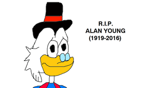Scrooge McDuck Feels Sad Because Alan Young Died by MikeEddyAdmirer89