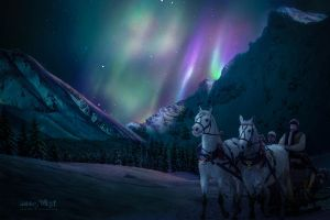 Winter Aurora by annewipf