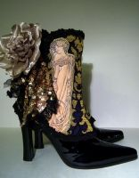 Mucha Golden Girl Spats by MAIDESTREASURIES