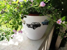 Flower Pot cars all stars Chevrolet Corvair by naraosart
