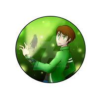 BEN 10 BUTTON by Renz1521