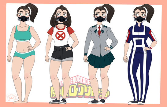 My Hero Academia OC: Tabby (Outfits) by PatchedTabby