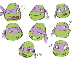 TMNT: Donnie expressions by Fulcrumisthebomb
