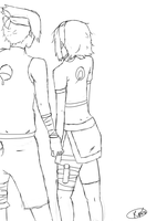If You Had Stayed - lineart by Roxra