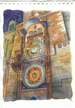 astronomical clock, prague by tiffa-tora