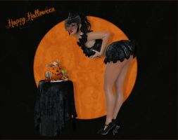 Halloween PinUp by Frollein-Zombie