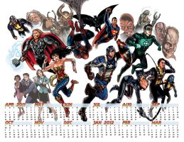 2011 Year of Heros Calendar by timothylaskey
