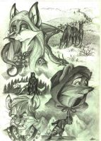 Game of Thrones - sketches. by FortunataFox