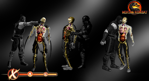 X-Ray Skeletons Pack 1 - Mortal Kombat 9 by romero1718