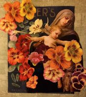 The Blessed Virgin And Child by KanchanCollage
