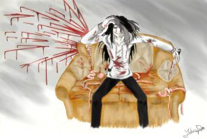 Jeff the killer - Blood and Darkness cap3 by YohansDark