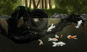 Pond Swimmers by ErothBlackDragon