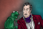 Vincent Price and Kermit The Frog Caricature by AnnaLibbo