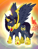 MLP- FanCharacter- PRINCE REIGNGOLD v2 by MolochTDL