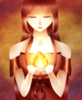 Cradling Flames 2.0 by Tishawish