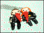 Hawkeye + Black Widow BFF Set by GrandmaThunderpants