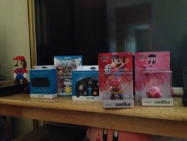 Mah Smash Wii U loot by AwesomeCasey795
