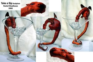 Take a Sip - Sculpture by tigeress66