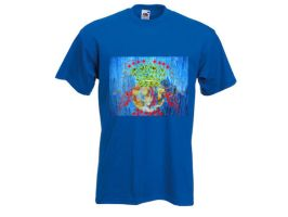Space ship it blue t-shirt by ylaz2011