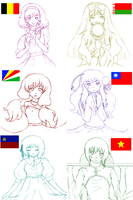 APH-The Gals-Sketchness by Ayanako