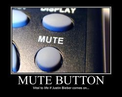 Mute Button Demotivational by NeonVictorian