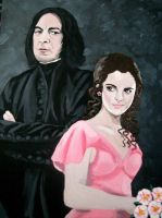 Snape and Hermione by Vulkanette