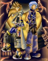 Kingdom Hearts II: Sora n Riku by powerswithin