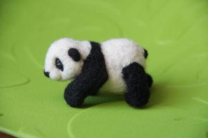 Felting - panda by Moonticore