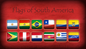 Flags of South America - Icons by Kristo1594