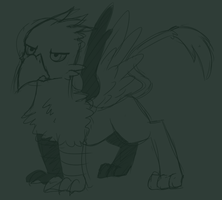 Serious Gryphon by Dsurion