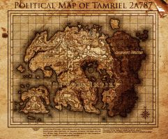 Elder Scrolls: The Volk Empire Map of Tamriel by DovahFahliil