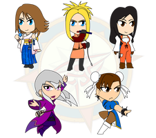 Assorted Chibis - Fantasy Mages and Fighters by Dragon-FangX