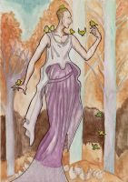Inanna Heydrich and the tree -little fluffy birds by hello-heydi